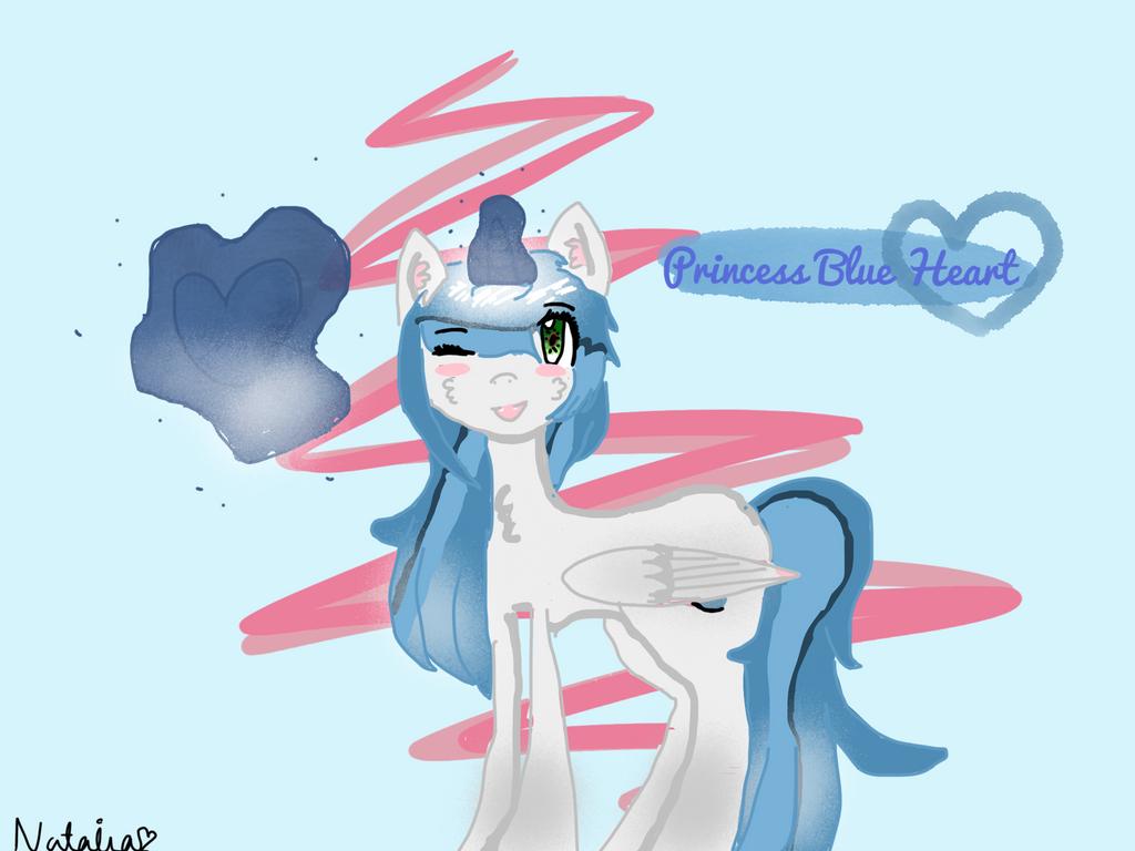 .:AT:. Princess Blue Heart   by Pinkie---Dash