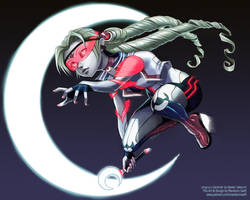 Cyber Pretty Soldier Sailor Moon by SkyeSparrow