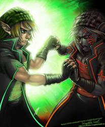 Cyberpunk Zelda Finale by SkyeSparrow