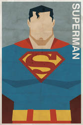 Superman - Vintage Poster by drawsgood