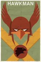 Hawkman - Vintage Poster by drawsgood