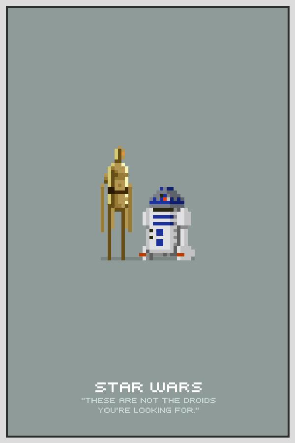 Droids Pixel Poster by drawsgood