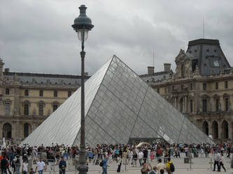 Pyramid Outside Louvre Museum