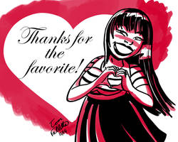 Thanks for the Favorite! by Fallettus