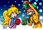 Peach and Daisy's Sweet Hot Chocolate by Fallettus