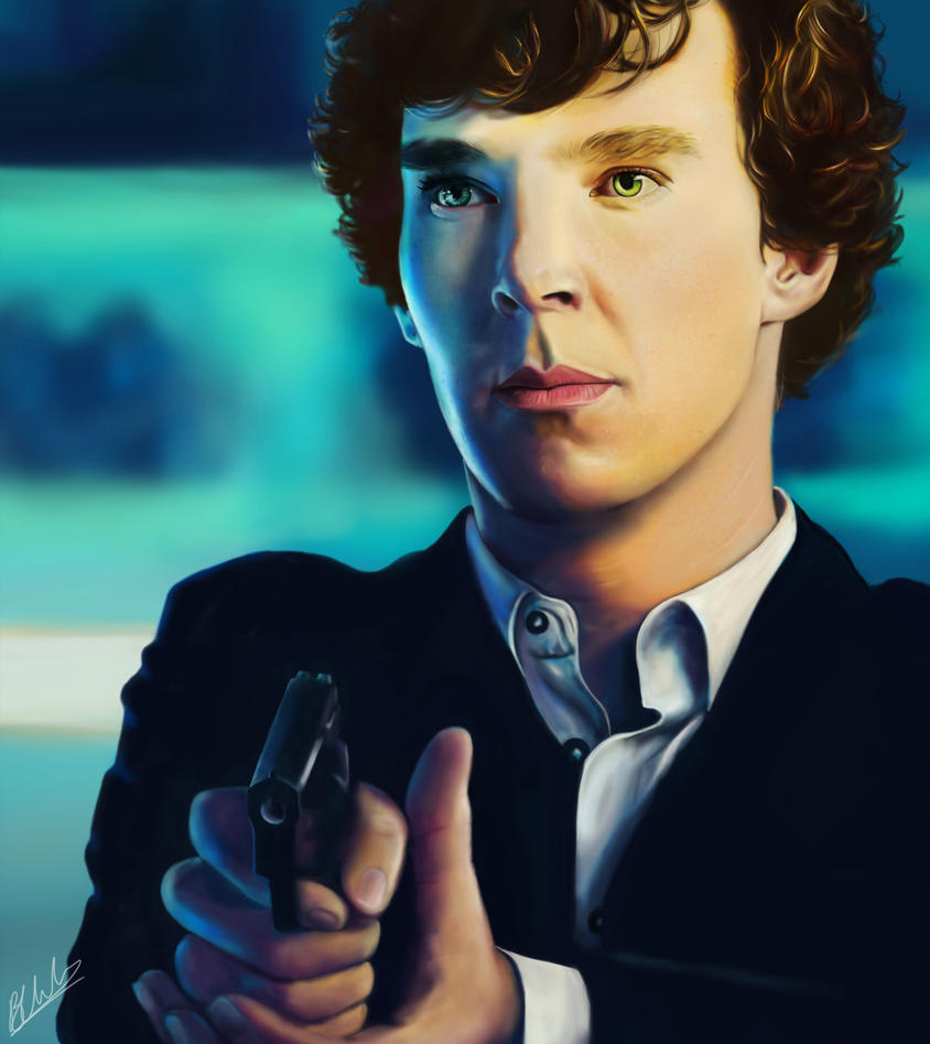Sherlock at the Pool by beth193