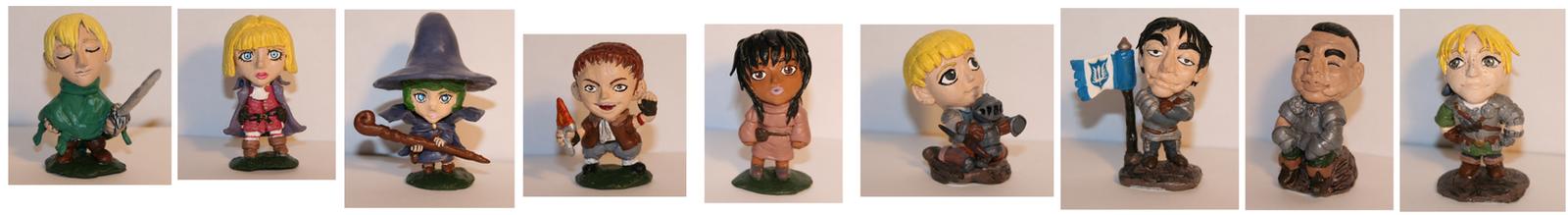 Berserk clay figures! by Wolfmjau