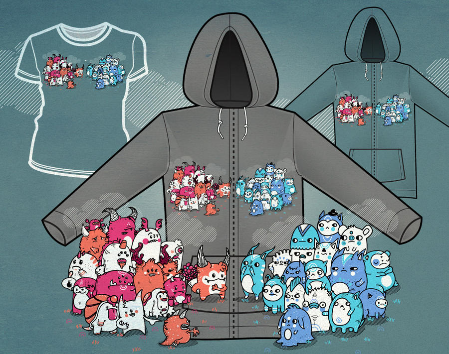 Half-Nation Love hoodie by Don-Pitayin