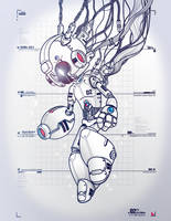 RockMan DRN-001 WHITE by Don-Pitayin