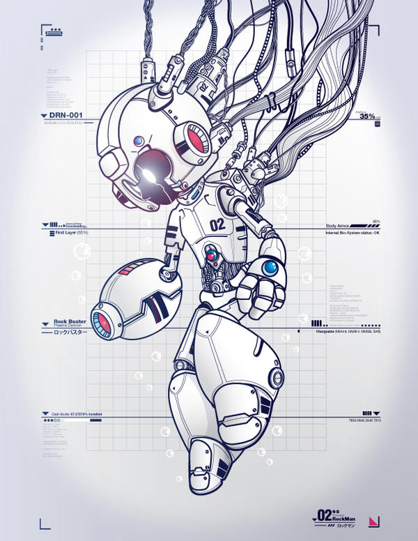RockMan DRN-001 WHITE by Don-Pitayin