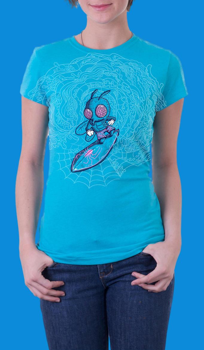 Surfin' the Web Shirt by Don-Pitayin