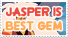 Jasper is Best Gem - Stamp by AlphaChap