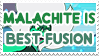 Malachite is Best Fusion - Stamp by AlphaChap