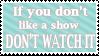 Don't Watch it by AlphaChap