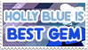 Holly Blue Agate is Best Gem - Stamp by AlphaChap