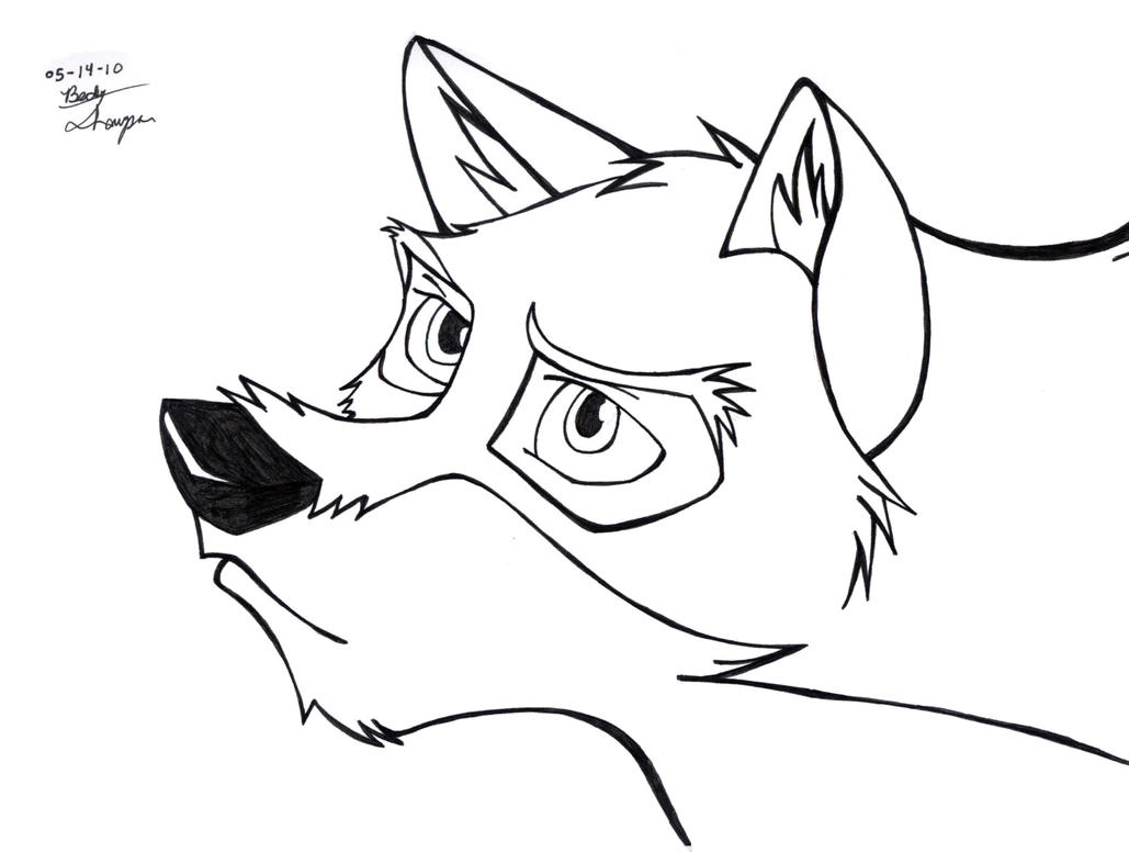 Balto 2 by beckylynne on deviantart for Balto coloring pages