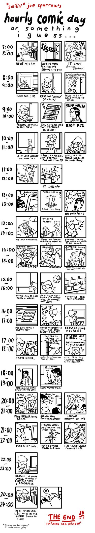 Hourly Comic Day 2012 by facesfilledwithflies