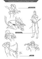 El pueblo de Tabata - personajes 1 by Cardemm