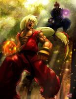 Ken VS Gouki by haruningster