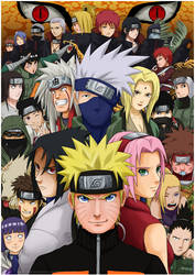 NARUTO SHIPPUDEN: All Stars by haruningster