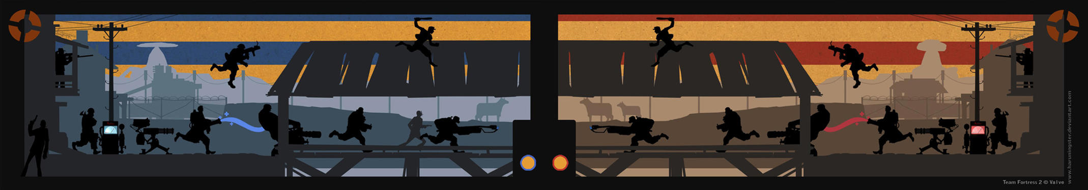 TEAM FORTRESS 2:2FORT Bookmark by haruningster