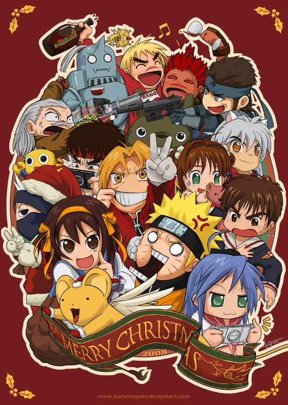 Merry Christmas Anime.Christmas Anime Craze 2008 By Haruningster On Deviantart