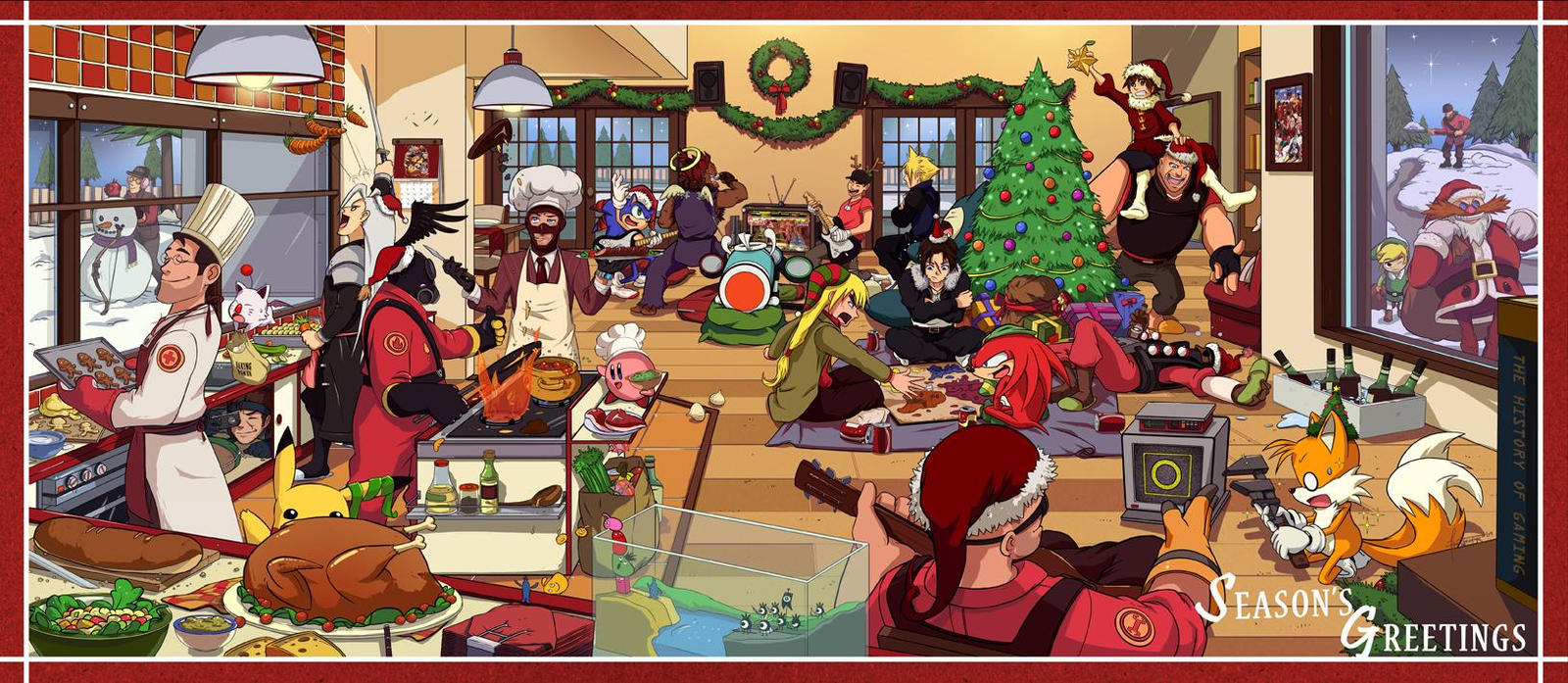 Merry Gamey Christmas by haruningster on DeviantArt