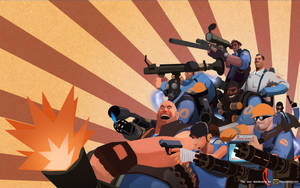 Wallpaper: TF2 BLU by haruningster