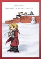 FullMetal Alchemist XMas Card1 by haruningster