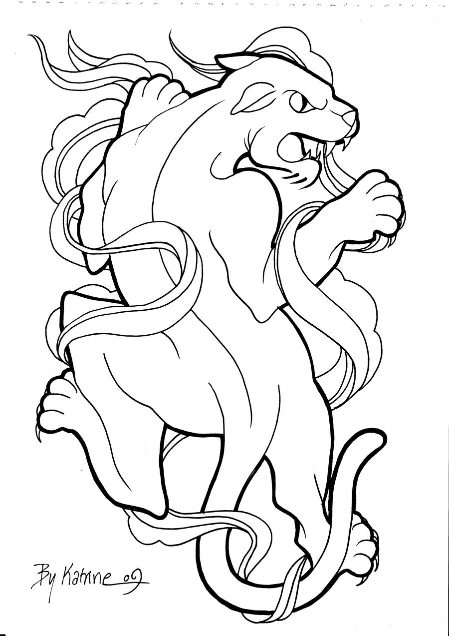 panther drawing outline - photo #18