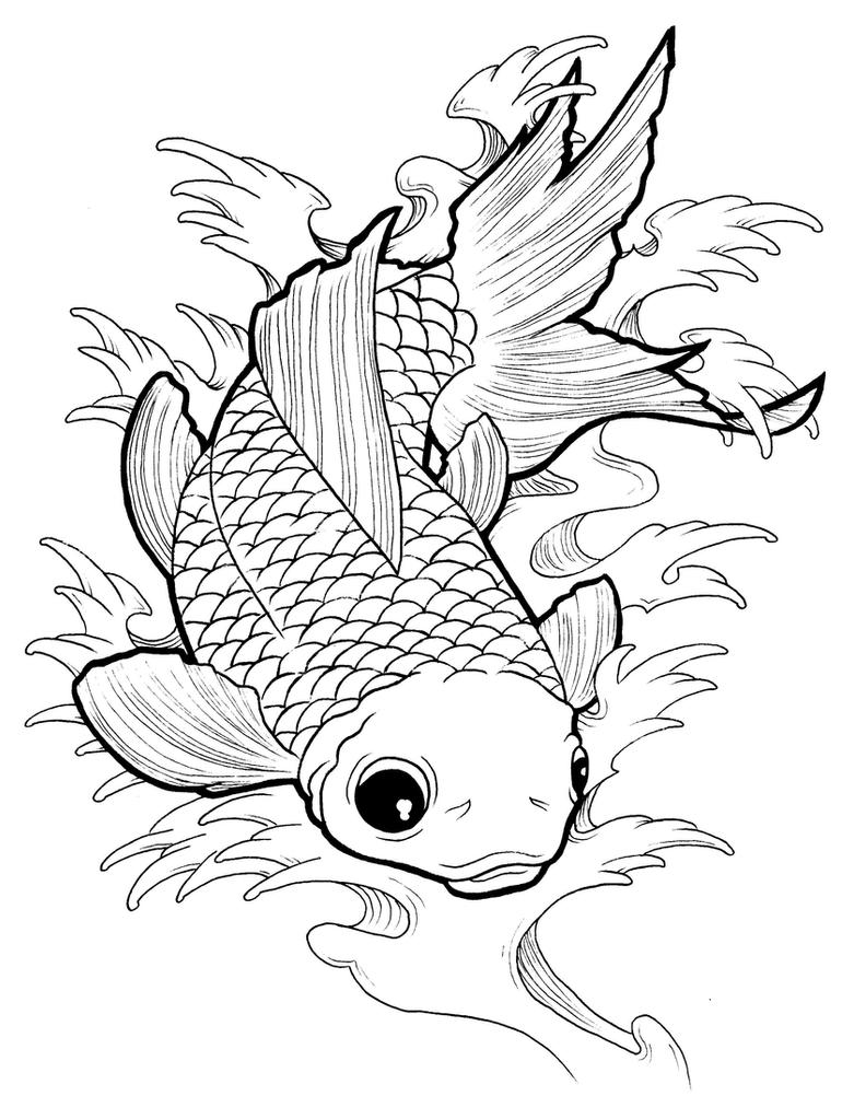 coloring pages of goldfish - gold fish by koyasan on deviantart