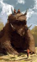 sketch - Mounted beast