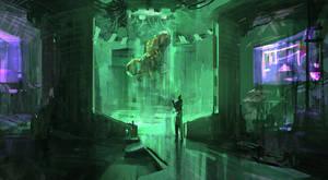 Alien Examination - mood sketch by TacticsOgre