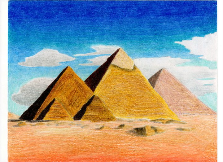 the great pyramids as art By sean hillen limited edition to 100 archival print of original hand cut photo  collage numbered and signed by sean 297mm x 420mm part of his  irelantis.
