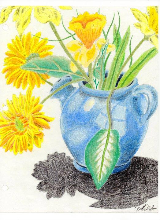 Vase of Flowers by jesus-at-art
