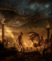Satan, King of the Underworld by jesus-at-art
