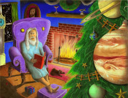 If God Celebrated Christmas by jesus-at-art
