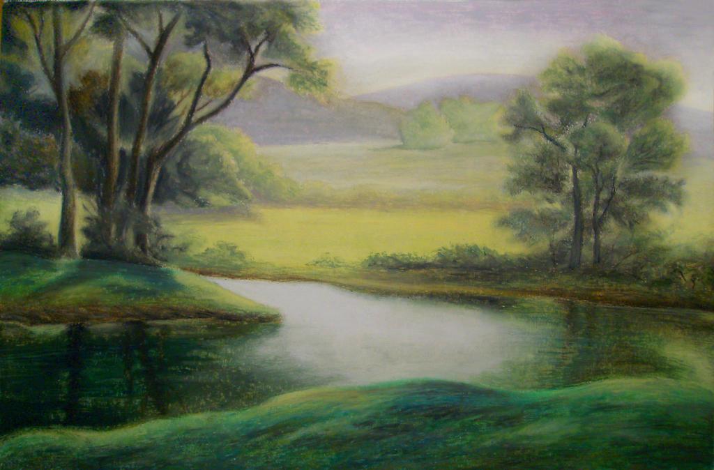 Lake of Green by jesus-at-art