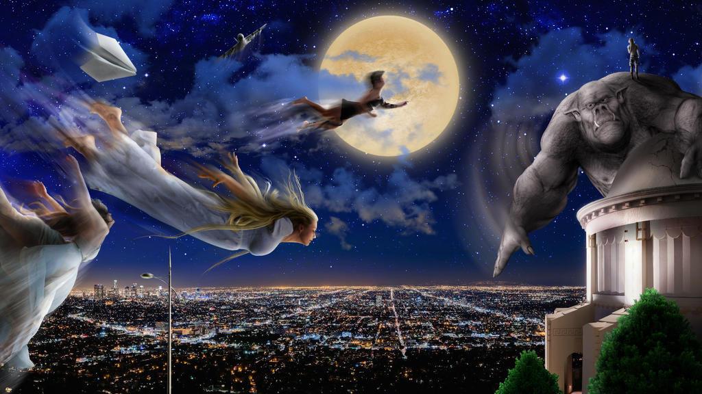 Flight Over the City Lights