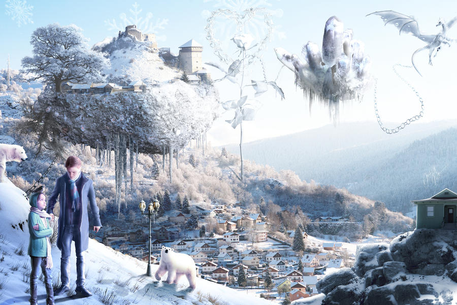 Weird Winter Wonderland by jesus-at-art