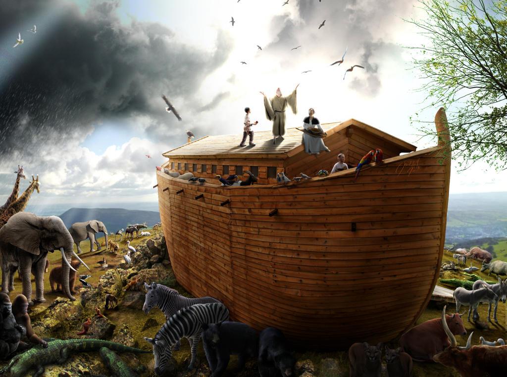 Noah's Ark - After the Flood by jesus-at-art on DeviantArt