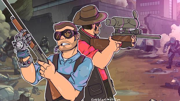engineer and sniper yehawww