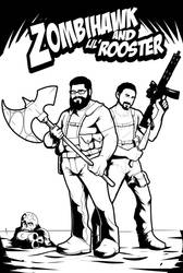 Zombiehawk and Lil'Rooster by Maulsmasher