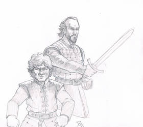 Tyrion and Bron by Maulsmasher