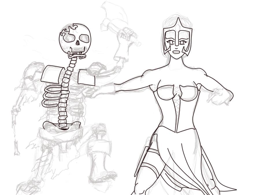 some old sketche's Sorceress_in_battle_lineart_attempt__by_bestie71-d57zf3u