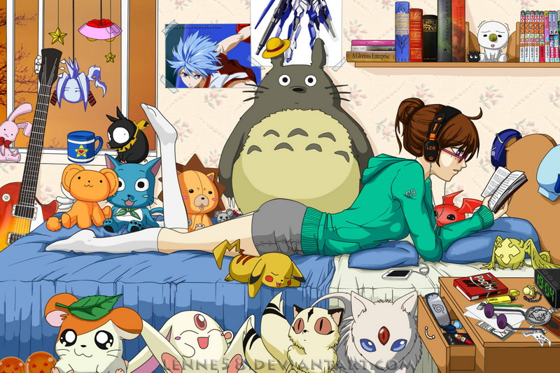 Anime bedroom by lenne58 on deviantart for Anime themed bedroom ideas