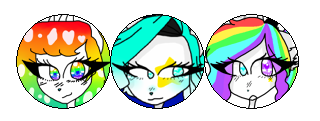 (NF2U) Arianna, Raifetti, Rainbow Circle Divider by TheJewelKitty