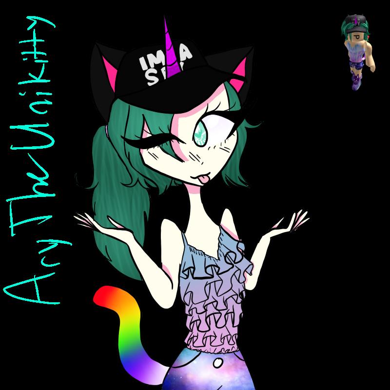 AryTheUnikitty (my Roblox avatar) by TheJewelKitty