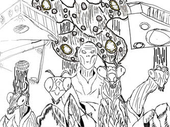 Insectoid Alien Invasion Fleet: For A Collab