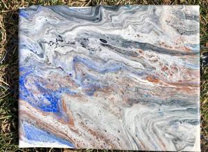 Acrylic Paint Pour Using Four Colors